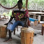 Our very patient drumming instructor :)