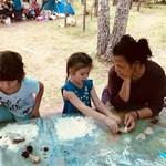 игры с песком в семейном лагере