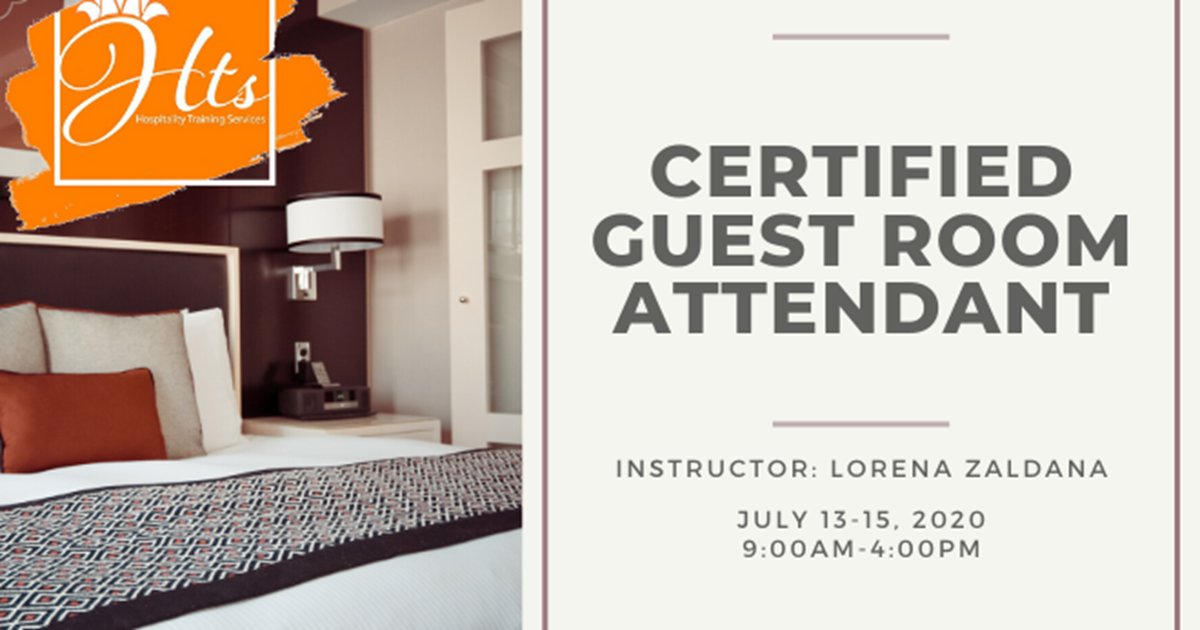 Certified Guest Room Attendant