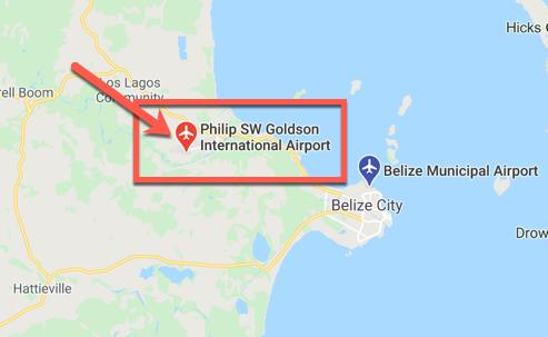 Belize Airport Map